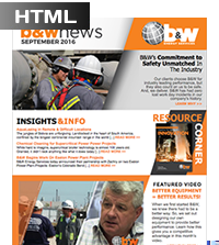 B&W Energy Services - September 2016 Customer Newsletter